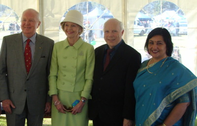 Mr Michael Bryce, The Governor-General Ms Quentin Bryce, Gitie House and Ron House